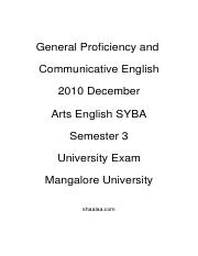 (www.entrance-exam.net)-Arts SYBCom- 3rd Sem General Proficiency and Communicative English Sample Pa