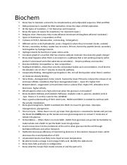 BIOCHEM C785 : Biochemistry - Western Governors University -