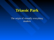 Geol159 chap 9Triassic Park