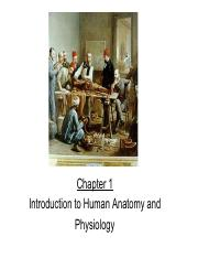 Ch 01 Introduction to Anatomy and Physiology