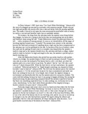 Short story car accident essay