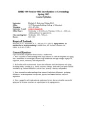 EDHD 400 Spring 2015 Section 0301 Course  Syllabus.doc