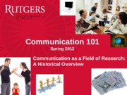 Class 3 - Communication as Field of Research
