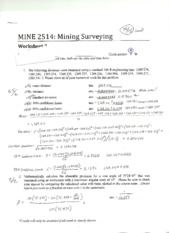 MINE 2514 Worksheet 2