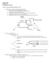 Genetics 344 - Evolutionary Genetics Lecture 4.docx