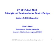 EE121B 2014F Lecture 3-MOS