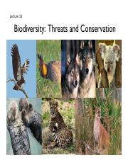 ENST100_Lecture13_Biodiversity Threats and Conservation.pdf