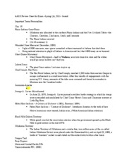 AASII Review Sheet for Exam spring 2011