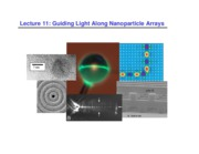 Lecture 11 - Guiding Light Along Nanoparticle Arrays