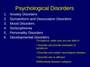 09 Psychological Disorders