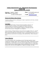 XU Supply Chain Management 633 syllabus summer 2010 TR.doc