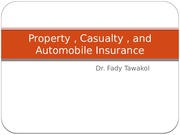 Property , Casualty , and Automobile Insurance