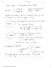 Electric Change Notes