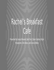 Rachel S Breakfast Cafe Case Study