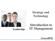 Class 06 and 07 - Strategy and Technology
