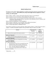 Weekly Writing Assignment Grading Criteria(22)