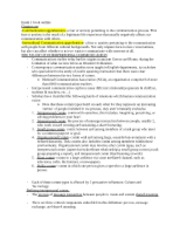 CMST 2010- Exam 1 Book Notes