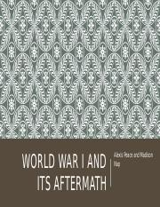 WWI and its Aftermath.pptx