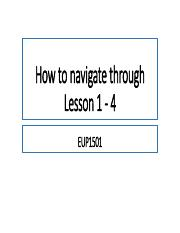EUP1501 How to navigate Lesson 1 - 4.pdf