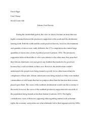 Unit 5 Essay-David Epps