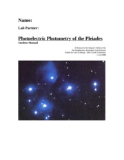 Photoelectric Photometry of the Pleiades 11-24-2008