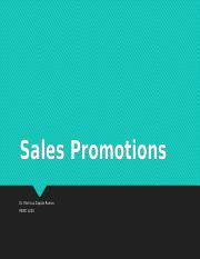Chapter 16 Sales Promotions