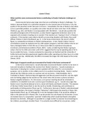 nature versus nurture essay