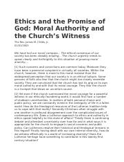 Ethics and the Promise of God.docx