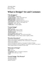 What is design, set and costumes