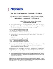 Electric Field and Field Lines - Lab Report.docx