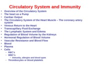 The Circulatory System and Immunity