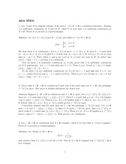 Homework 8 Solution Fall 2013 on Real Analysis