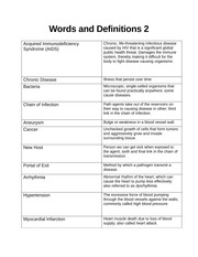 Words and Definitions 2