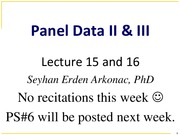 Selected Slides form Lectures 15 and 16 Fall_14-1