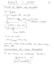 Lecture Notes on Principle of Momentum