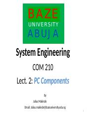 Lect -2 COM210 PC Components.ppt