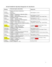 Operations Management Revised Schedule.doc