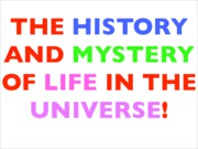 1 History of the Life in the Universe copy 2