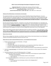 eg351 social psychology assignment 4 Introduction to psychology writing assignments one of the requirements of this course is to complete three writing assignments you may complete a fourth assignment for extra credit enclosed in this packet are the guidelines 4 the assignments were.