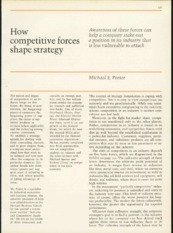 How Comp Forces shape Strategy