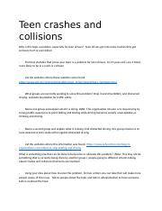 Teen crashes and collisions.docx