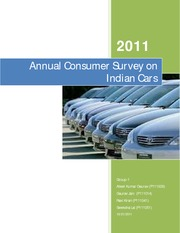 Report_Group1_Annual Consumer Survey on Indian Cars