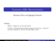 Lecture14 _updated_ - Monetary Policy and Aggregate Demand