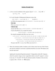 Discrete Math Test # 2 Solution