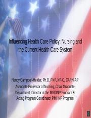 Influencing Health Care Policy-VOP.pptx