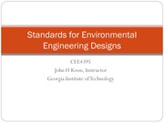 Standards for Environmental Engineering Designs CEE4395 S2015