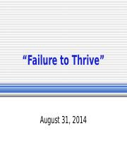 Failure to Thrive.odp