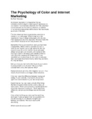 PSY 210 The Psychology of Color and Internet Marketing.docx