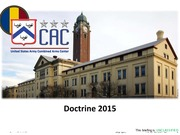 Doctrine 2015 Briefing FT Benning