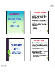 Policy and Strategy ILI Ch5